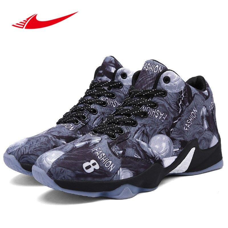Turnschuhe Mann Basketball Schuhe Schwarz Weiß High Top Sneakers Für Männer Frühling Herbst Training Schuhe Männer Dämpfung Nicht Slip Basketball Stiefel