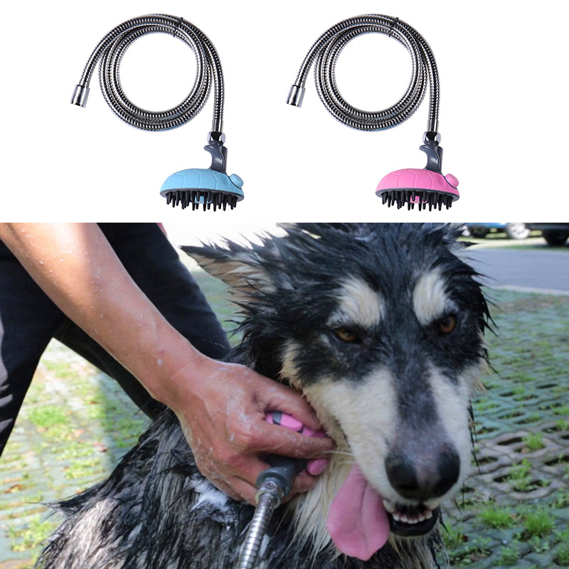 Multifunction Pets Dogs Bathing Device Dog Puppy Bathing Suit Rubber Hose Massager Shower Heads J2Y