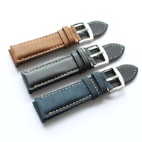 16 18 20 22 24 26mm High Quality Durable Men Women Genuine Leather Watch Strap For
