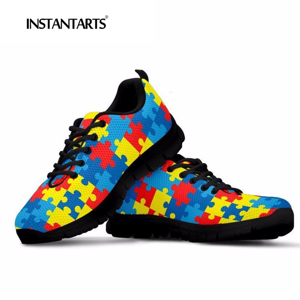 Youth Fashion INSTANTARTS Sneakers 3D Flats Shoes Design
