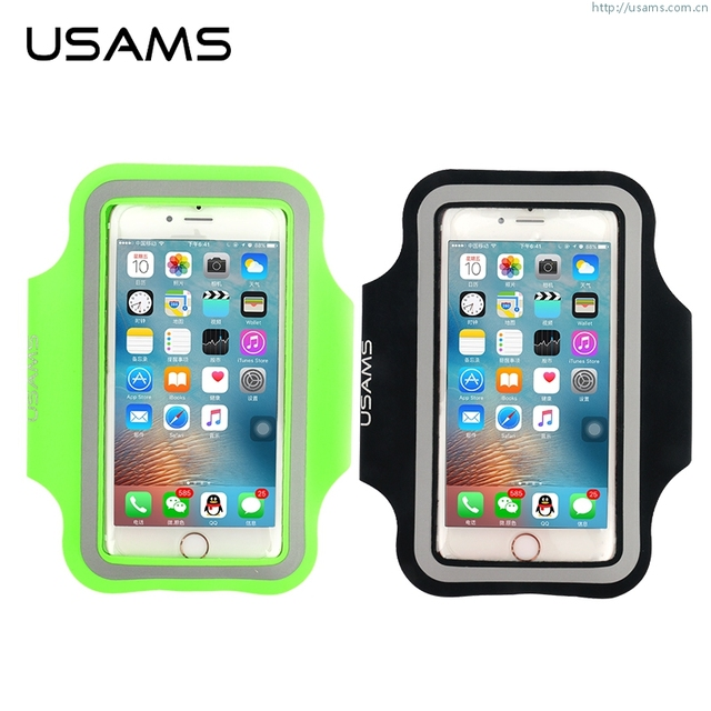 new style 3bc57 0271f US $7.99 |USAMS Brand Outdoor Running Sports Gym Arm Cell Phone Armband  Holder For iPhone 7 / 7 Plus 6s 6 / 6s Plus Pouch Cover-in Armbands from ...