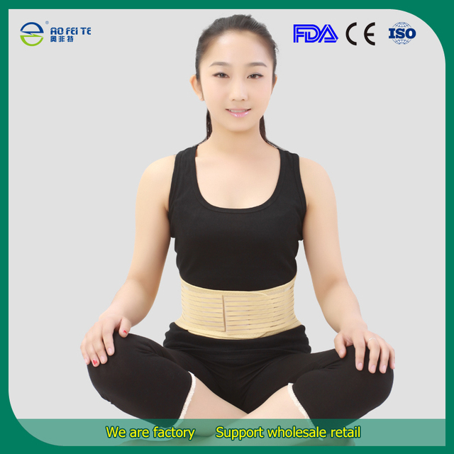 Producto turmalina Autocalentamiento Magnética Postura Ortesis y Soporte Ajustable Doble Tracción Trasera de La Cintura Corsé Cinturón de Soporte Lumbar