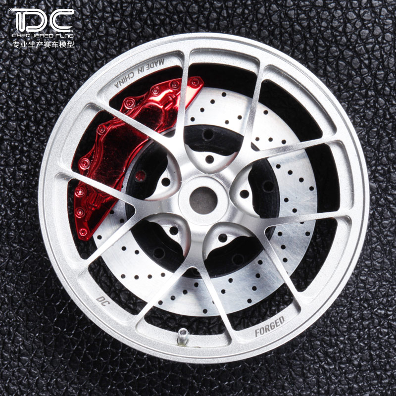 4PCS 1:10 Ri d Metal Wheel Offset +6 Black/silver For Drift On Road Rwd Awd