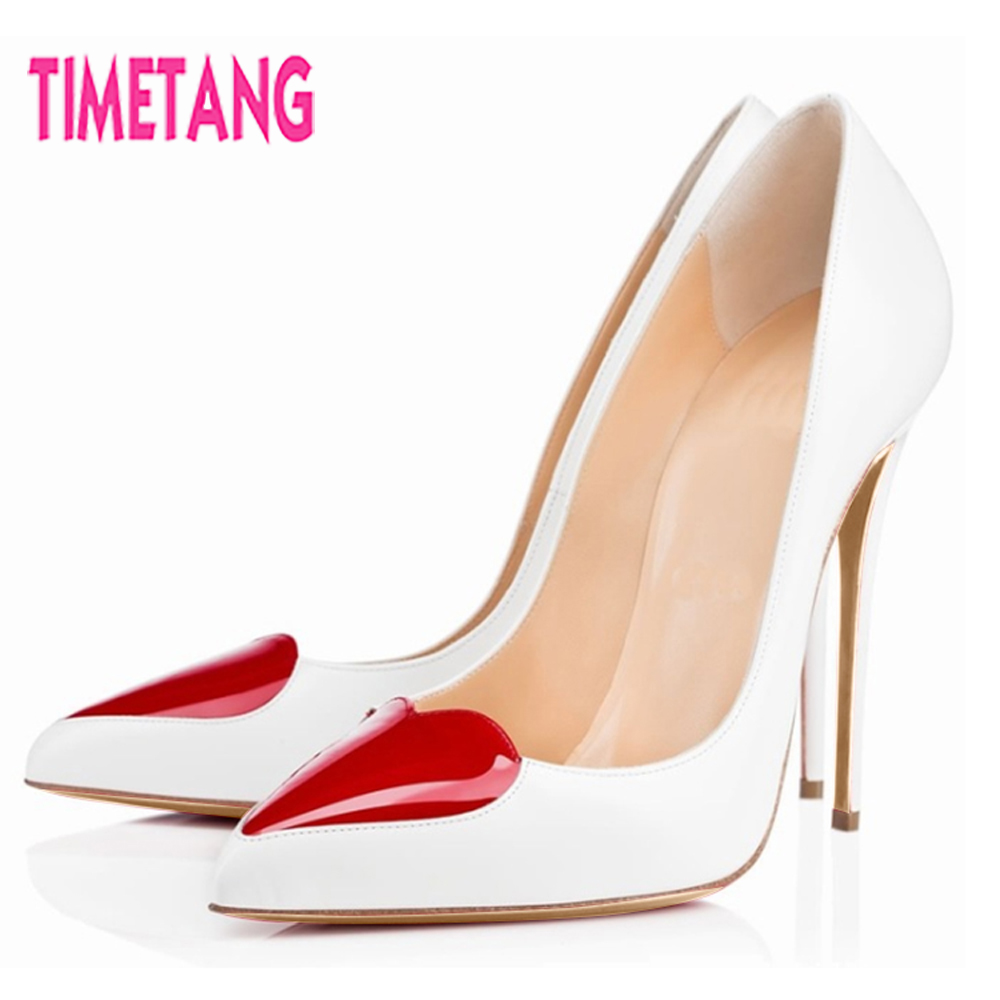 New Arrival Elegant OL Women Pumps Unique Red Heart-Beat High Thin Heel Shallow Mouth Pointed Toe Stiletto Single Women Shoes super high heels pointed toe women shoes pumps spring summer pointed shallow mouth thin high heel women pumps silk elegant pumps