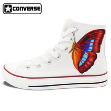 Butterfly Original Design Converse Chuck Taylor Hand painted Shoes Woman Man White High Top Women Men Sneakers Christmas Gifts
