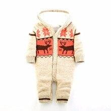 3 couleur joyeux noël bébé barboteuses cerfs barboteuse wapitis bébé garçon nouveau – né vêtements de bébé à capuche combinaison barboteuse hiver bébé au chaud