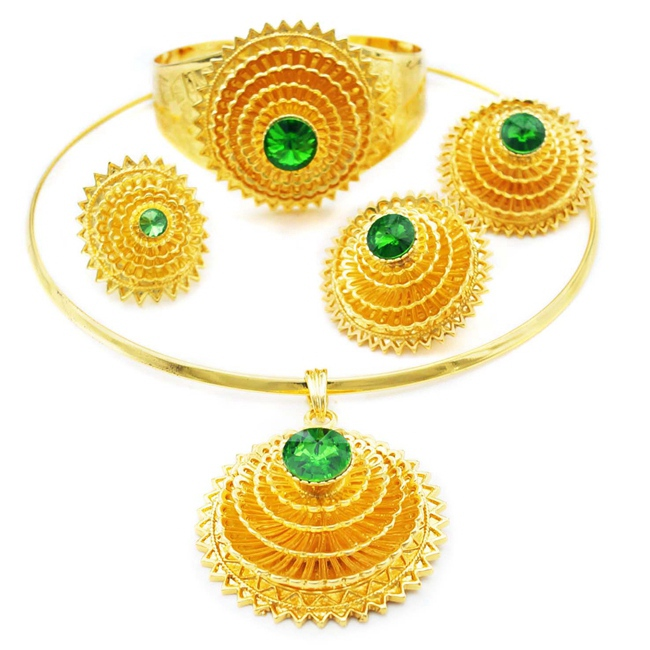 1bdd5fe217 YULAILI Ethiopian Jewelry Sets Pure Gold Color African Jewellery Ethiopia  Wedding Bride Habesha Sets Ladies Accessories ~ Best Seller June 2019