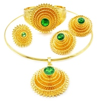 YULAILI Ethiopian Jewelry Sets Pure Gold Color African Jewellery Ethiopia Wedding Bride Habesha Sets Ladies Accessories