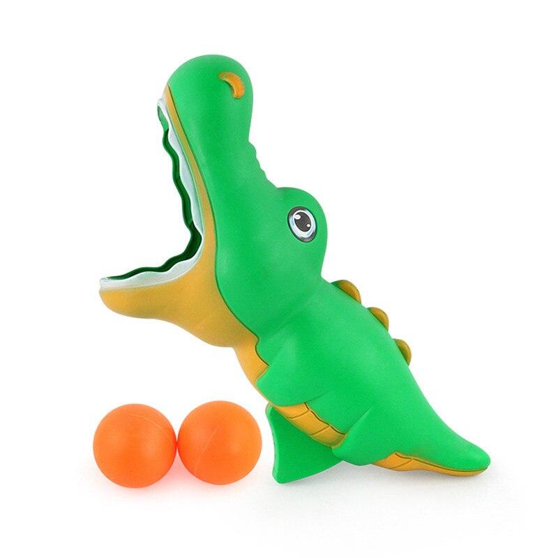 Забавный Спорт на открытом воздухе мультфильм отжимание прикладом мяч животное акула launch Ball игрушка ребенок держать launch Ball Toys - Цвет: Зеленый