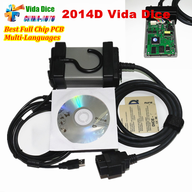 Full Chip For Vo--l--vo Vida Dice Newest 2014D Diagnostic Tool Multi-Language For Dice Pro Vida Dice Green Board Full Function hot new xtuner e3 easydiag wireless obdii full diagnostic tool with special function pefect replacement for vpecker easydiag