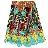 E56 Top Quality African Batik Fabric With Embroidery High Quality African Women Wax Fabrics African Wax