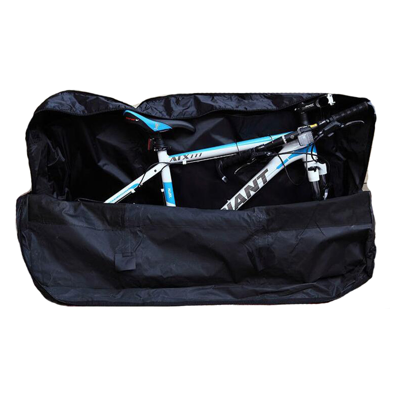 Cycling Bag 2 in 1 Folding Bike Package Bag + Handlebar/Saddle Storage Bag Folding Bicycle Packing Bag Loading Package Panniers цены онлайн