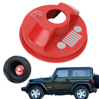 Red Metal Fuel Tank Cap For Jeep Wrangler JK Unlimited X Sport Freedom Sahara 2 4Door