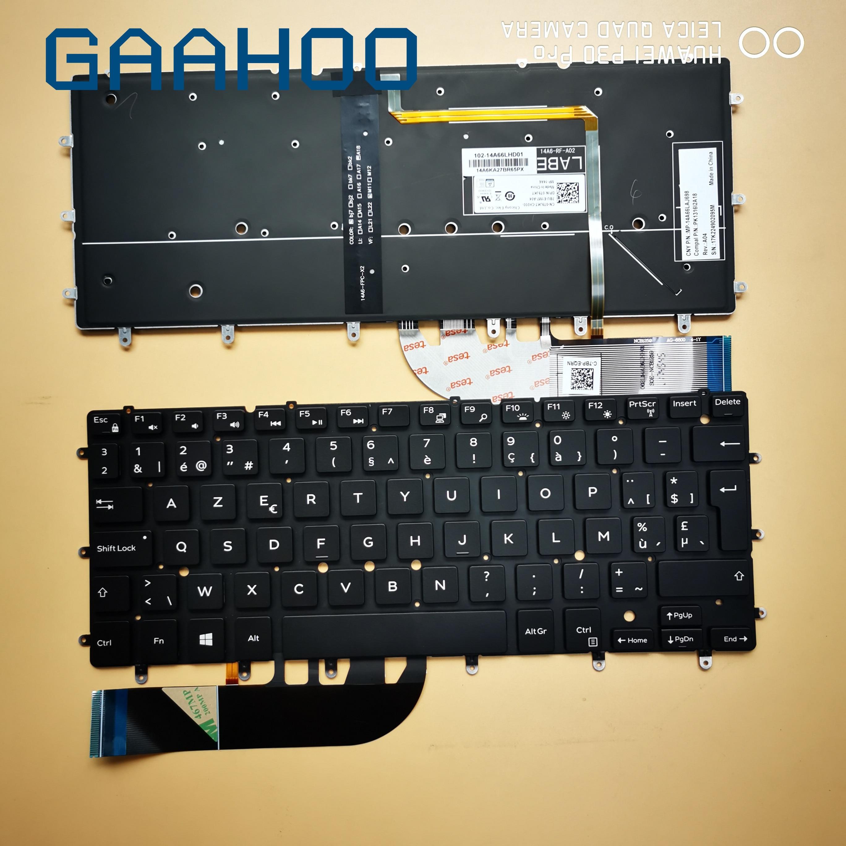 Brand New Original EU  Keyboard For DELL XPS13 9343 9350 9360  INSPIRON15 7547 7548 Laptop LA/SP FR POR Keyboard With Backlit