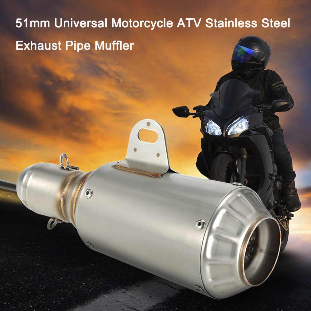 Motorfiets Uitlaat 51 Mm Universal Motorcycle Atv Frosting Rvs Uitlaatpijp Uitlaat Voor Akrapovic Motorcycle