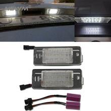 2 шт canbus светодиодный номерной знак светильник для opel vectra