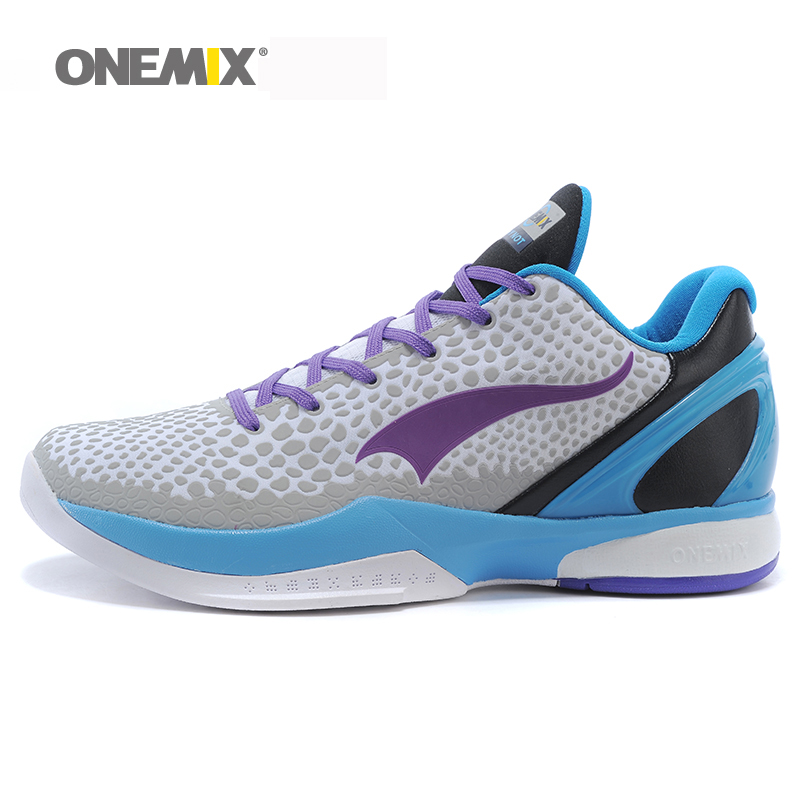 onemix men's basketball shoes breathable mesh vamp anti-slip young style sports sneakers deodorant insole for outdoor jogging