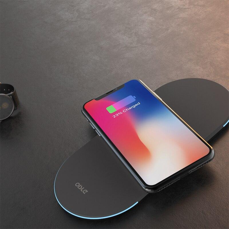 3 dans 1 Qi Sans Fil Chargeur Pour iPhone Xs Max X 8 Plus Ultra-mince Rapide Sans Fil De Charge Pad pour Samsung S9 S8 Plus Note 8
