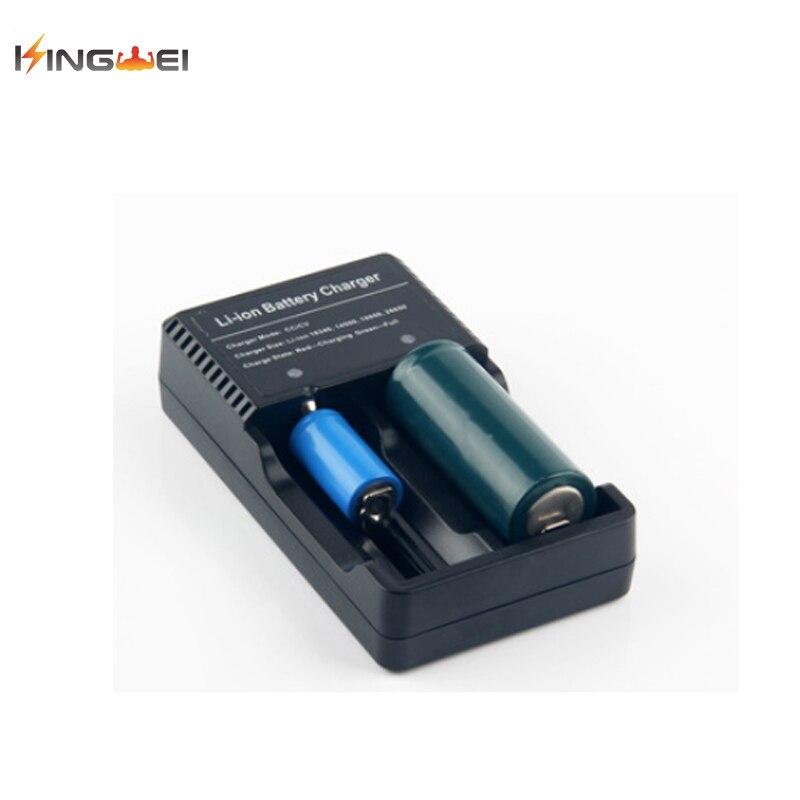 10 pièces nouveau 2 fentes chaud universel double chargeur de batterie pour 18650 Li-ion batterie Rechargeable 3.7 V chargeur d'origine USB plugKingWei