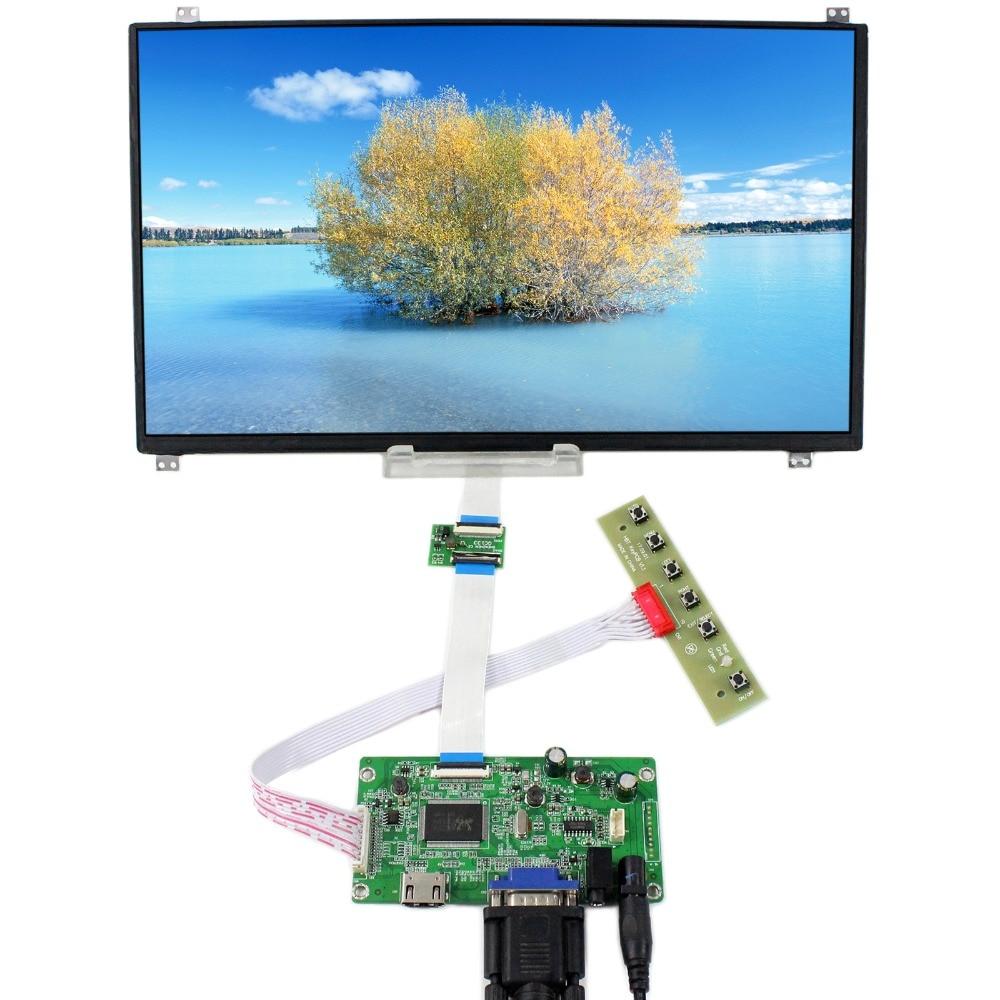 HDMI VGA Audio LCD Driver Board With 13.3inch 1920x1080 N133HSE-EB2 eDP IPS LCD Screen free shipping n116bge e32 n116bge ea2 n116bge e42 n116bge eb2 lcd b116xtn01 0 screen edp lcd monitor