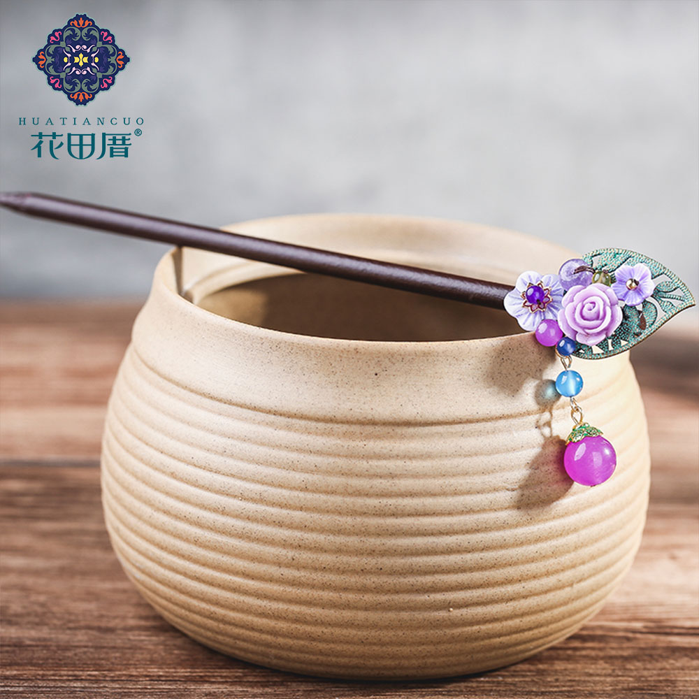 Ethnic Handmade Flower Hairpin 3