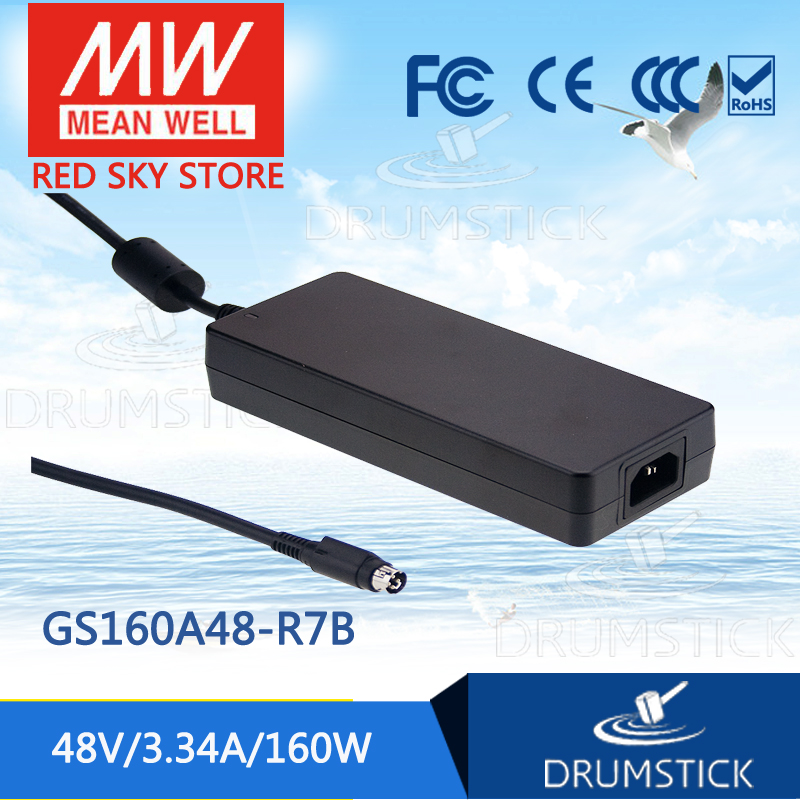 Moyenne bien GS160A48-R7B 48V 3.34A meanwell GS160A 48V 160W AC-DC adaptateur industriel