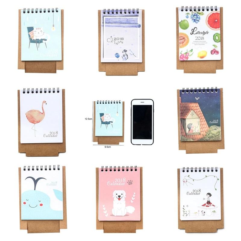 19*8.3cm Creative Desk Standing Paper Multifunction Organizer Schedule Planner Notebook 2018 Year New Kawaii Cartoon Calendar Calendar