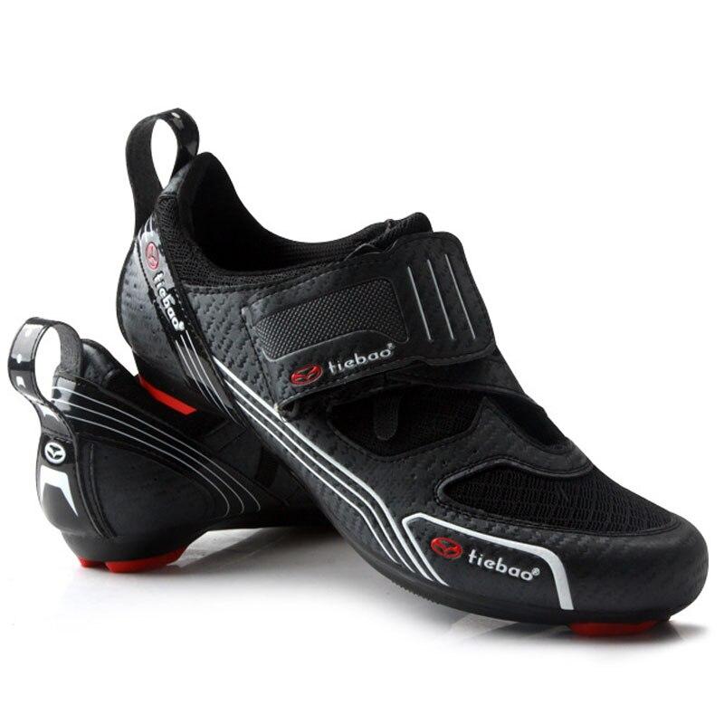 все цены на TIEBAO Cycling Shoes Road Bike Shoes Professional Riding Team Self-Locking Bike Road Riding Equipment Cycling Shoes онлайн