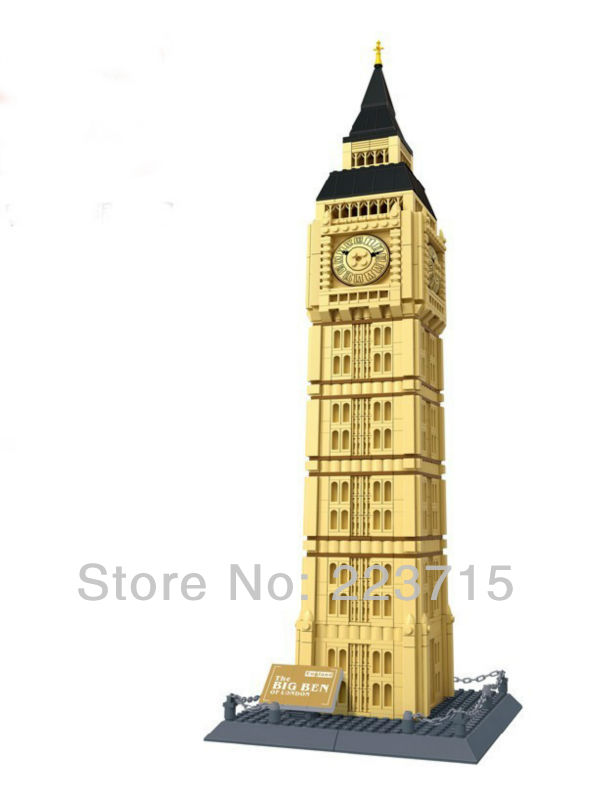 Free Shipping!*The Big Ben* DIY enlighten block bricks,Compatible With other Assembles Particles