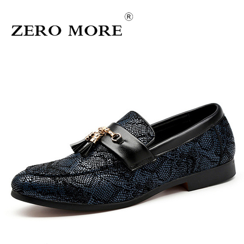 Fake Snake Skin Print Alligator Leather Shoes Men Loafers Slip On Pointed Toe Men Shoes Casual Slip On 17d50 Men's Shoes