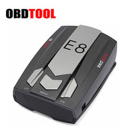 Car Radar Detector E8 360 Degree LED Display With Laser Detection Full Band Scanning Voice Support