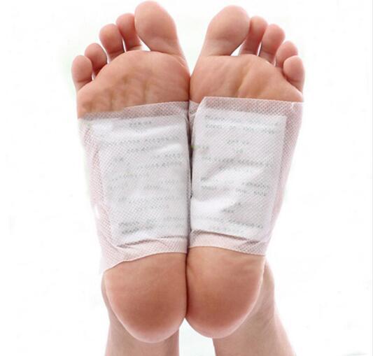 200pcs/lot GOLD Premium Kinoki Detox Foot Pads Organic Herbal Cleansing Patches (100pcs Patches+100pcs Adhesives) 2019 New