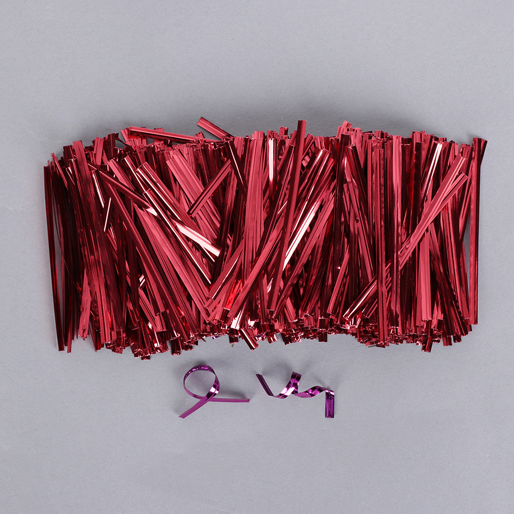 Image 3 - 800PCS/Pack New Metallic Twist Ties Wire Cellophane Bag Pack Sealing Steel Baking Wrapping Ligation Event & Party Supplies-in Gift Bags & Wrapping Supplies from Home & Garden