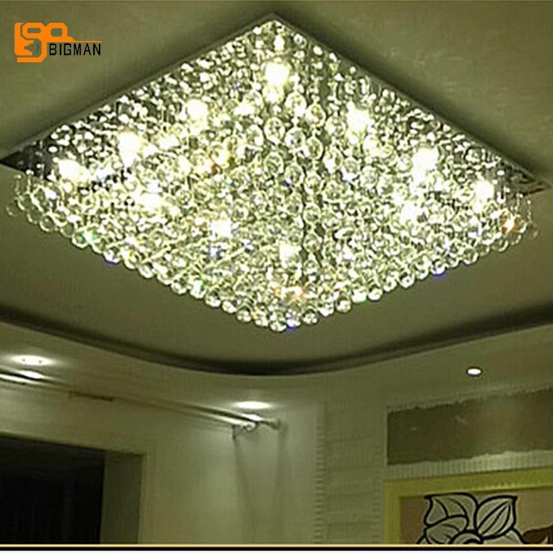 Lustre Design Modern Crystal Lights Crystal Ceiling Lamp For Living Room  LED Plafon Home Lighting