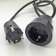 250 V 16A Europeia/padrão Alemão soquete e plug power line 3*1.5 MM/1 Metros de Cabo cabo de extensão