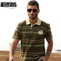 Free Shipping New men's Male fashion casual Striped short sleeved POLO shirt embroidered uniform loose On Sale