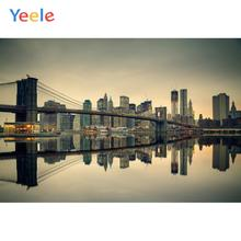 Yeele Bridge Modern City Night River Reflection Wallpapers Of Photography Backdrops Photographic Backgrounds For Photos Studio