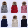 2017 Women New Twisted Large Ball Pom Crochet Winter Knitted Hat Warm Beanie Cap