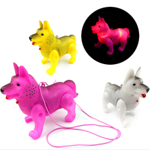 Electronic Pet Funny Robot Dog Children Toys LED Light Luminous Music Electric Walking Dog Educational Toys for Kids Child Gift