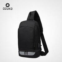 حقائب رياضية متعددة الوظائف من OZUKO للرجال مزودة بمنفذ USB للشحن حقيبة يد للرجال مضادة للماء حقيبة كتف للخروجات اليومية-في حزم الخصر من حقائب وأمتعة على