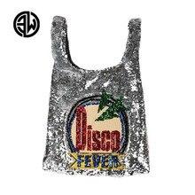 Дискотека Мода блестками Повседневная сумка большая пляжная сумка из бисера Blingbling Щепка шопер сумка-шоппер Роскошные Леди Сумки louis