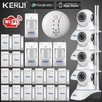 Бесплатная доставка DHL беспроводной App 720 P Wi-Fi ip-камера видеонаблюдения HD IP камеры безопасности сигнализация Wi-Fi GSM SMS сигнализация Инфракрас...