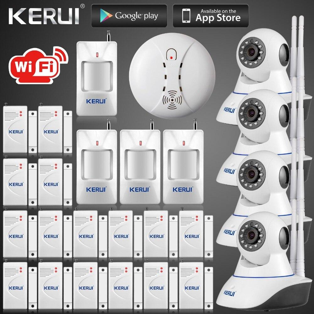 DHL livraison gratuite sans fil APP 720 P WiFi caméra IP HD CCTV IP système d'alarme caméra de sécurité Wifi GSM SMS système d'alarme infrarouge