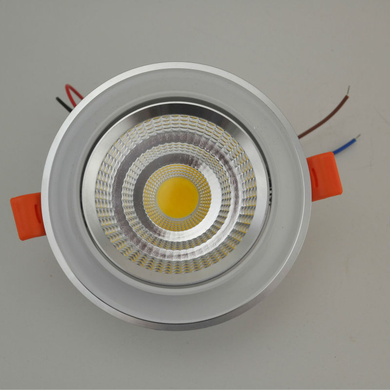 New LED COB Ceiling light 5W7W10W12W COB Chip LED Recessed Downlight Spot Light Lamp White/ Warm white AC 85-265V Free shipping