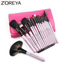 ZOREYA 18pcs High Quality Makeup Brushes Powder Foundation Concealer Eyebrow Lash Eye Shadow Lip Make Up Brush Set New Arrival hot new arrival 100% brand new and high quality make up brushes set of professional make up brushes to high quality beauty anne