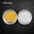1 Caja de 10g de Oro Del Metal Plateado Nail Art Caviar DIY Encanto Cuentas de Uñas Manicura 3d Accesorios de Decoración de Uñas