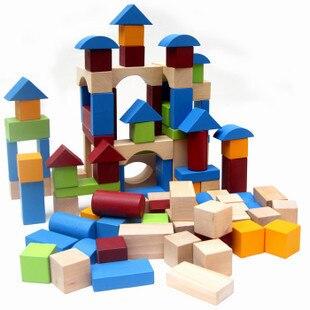 Wooden Toy Ambulance/Fire Engine Car Building Blocks Children Toy ...
