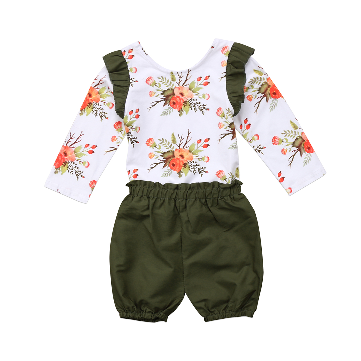 Girls ROYAL GEM boutique outfit 3T 4T 6 NWT cloth flower tiered ruffle swing top