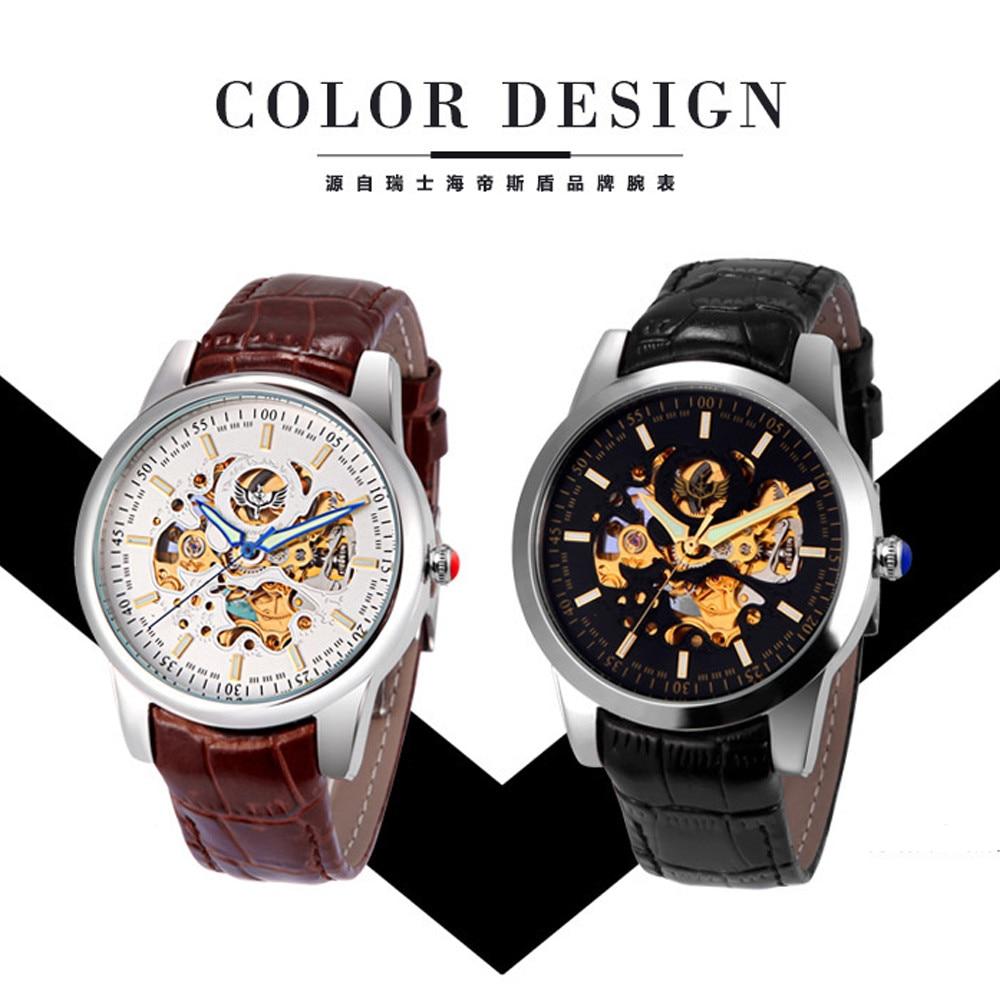Mechanical Wrist watch Men Luxury brand Watch Fashion Business Leather Band Mechanical Watch Luxury Relogio masculino