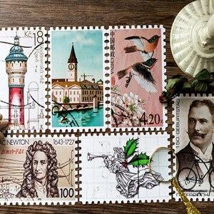 Image 3 - 4 Gói/Nhiều Ban Đầu Đóng Hộp Bưu Thiếp Vintage Tem Sáng Tạo DIY Quà Sinh Nhật Tặng Postcard Và Cho Thiệp Chúc Mừng